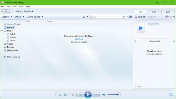 El Reproductor de Windows Media no puede reproducir el archivo en Windows 10