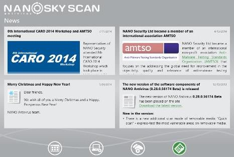 NANO Antivirus Sky Scan: Aplicación gratuita de Windows Store para Windows 10/8.1