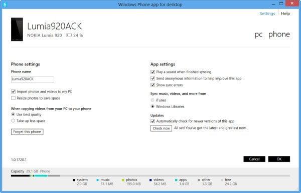 Descargar la aplicación de Windows Phone para el escritorio