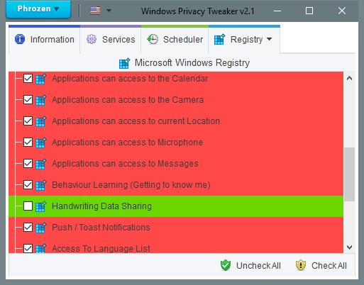 Windows Privacy Tweaker endurece la configuración de privacidad y detiene la recopilación de datos