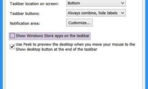 Mostrar o no mostrar aplicaciones de Windows Store en la barra de tareas de Windows 8.1