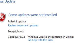 Fijar Windows Update Error 0x80073712 en Windows 10