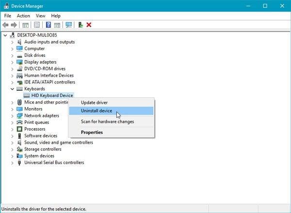 Windows no puede inicializar el controlador de dispositivo para este hardware (Código 37). 1
