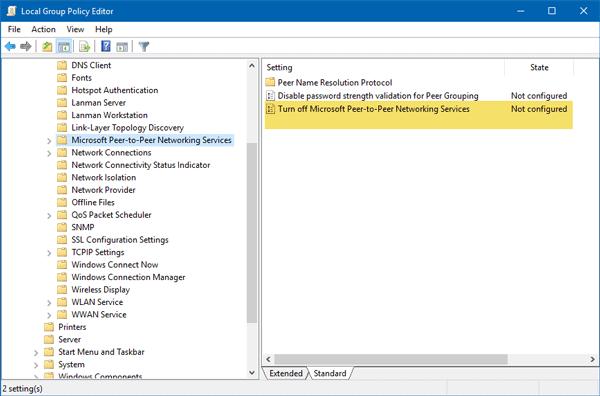 Windows no pudo iniciar el servicio de agrupación de redes de pares en un equipo local.