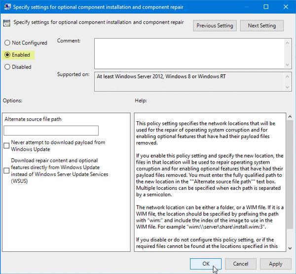 Windows no pudo completar los cambios solicitados