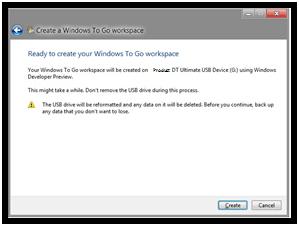 Crear un entorno y espacio de trabajo portátil de Windows To Go 4