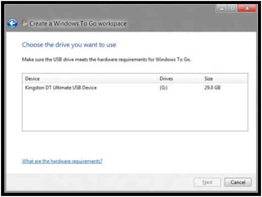 Crear un entorno y espacio de trabajo portátil de Windows To Go 1
