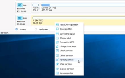 Windows no pudo completar el formato - tarjeta SD, unidad USB, disco externo
