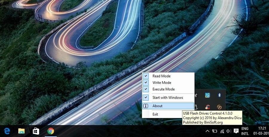Control de unidades flash USB le permite controlar cómo se utilizan las unidades extraíbles USB
