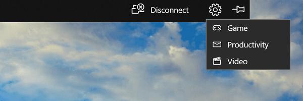 Cambiar rápidamente entre modos al usar Wireless Projection en Windows 10