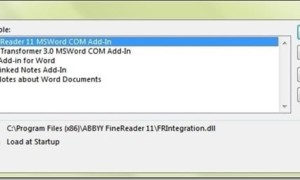 ABBYY FineReader Add-in que provoca que los programas de Office se bloqueen