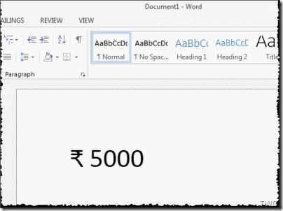 Símbolo de la Rupia India: Cómo usar el método abreviado de teclado en Windows 10/8/7 4