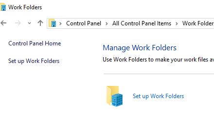 Tratamiento del cifrado de carpetas de trabajo en Windows 10