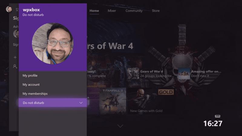 Cómo usar el modo No molestar y los temas programados en Xbox One
