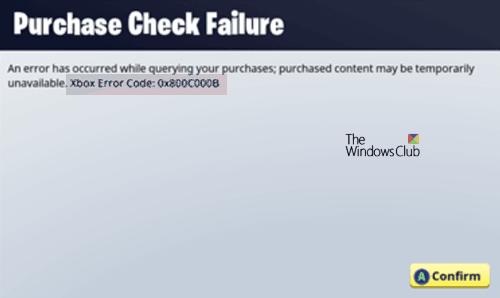 Cómo corregir el código de error de Xbox 0x800c000B