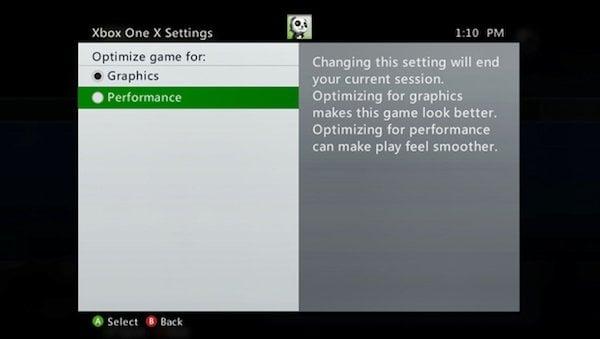 """Cómo desactivar los gráficos mejorados para """"Juegos Xbox 360 mejorados"""" en Xbox One X"""