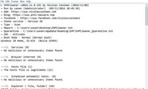 ZHPCleaner es un software para eliminar los secuestradores del navegador y restaurar la configuración del proxy.
