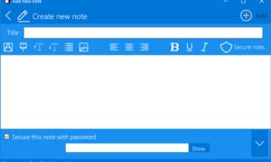 Protección con contraseña para Notes en Windows con ZenR Notes