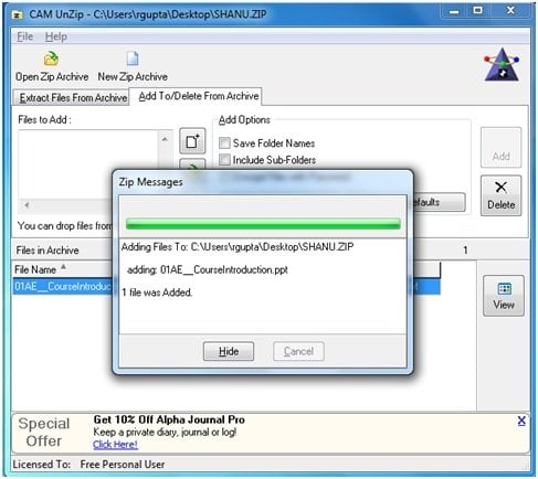 Comprime y descomprime archivos fácilmente con CAM UnZip