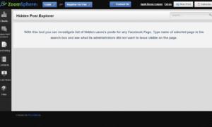 El Explorador de Mensajes Ocultos te permite ver los mensajes ocultos en la página de Facebook