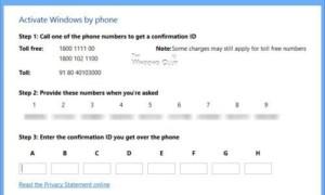 Activar Windows 10/8 por teléfono: Clientes de Retail y Licenciamiento por Volumen