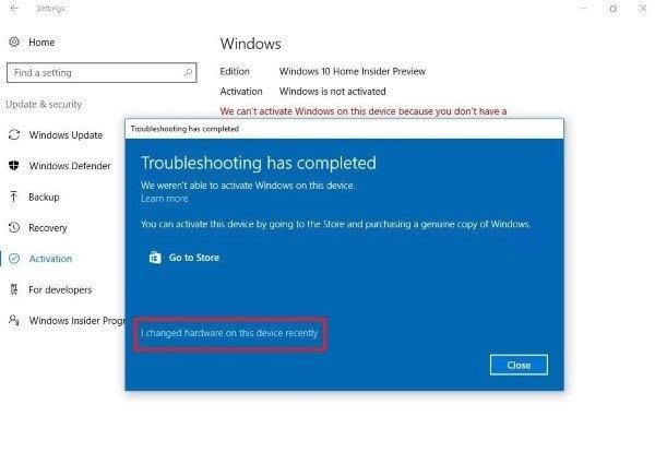 El Solucionador de problemas de activación de Windows 10 le ayudará a solucionar sus problemas de activación.