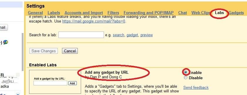 Cómo añadir un gadget de Twitter y un tweet desde tu cuenta de Gmail 3