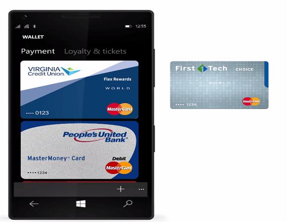 Puntee y pague con Microsoft Wallet para Windows 10 Mobile Phone