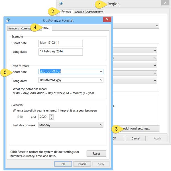 Cómo agregar un día de la semana al reloj de la barra de tareas en Windows 10/8/7 1