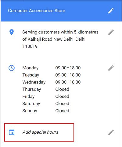 Cómo programar horas especiales en Google My Business