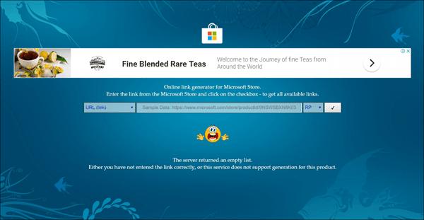 Generar enlaces de descarga directa para aplicaciones de Microsoft Store