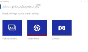 Adobe Photoshop Express para Windows 10 está bien, sólo OK