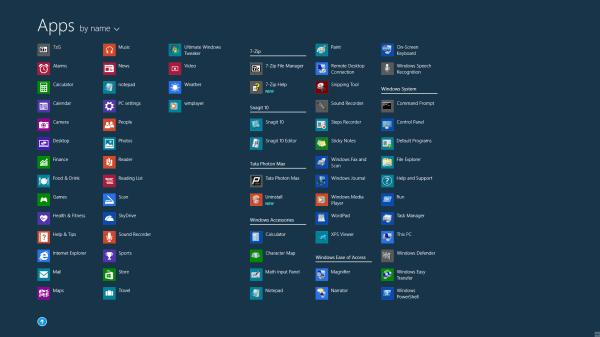 Visualización automática de todas las aplicaciones en la pantalla de inicio de Windows 8.1