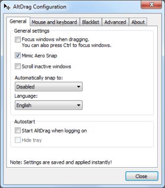 Redimensionar, arrastrar y administrar ventanas fácilmente con AltDrag para Windows 7