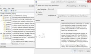 Desactivar o activar la característica de aislamiento de aplicaciones en Windows 8