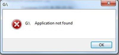 Mensaje de aplicación no encontrado en Windows 10/8/7 1