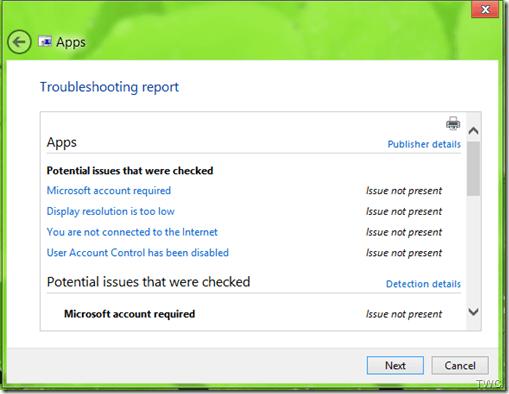 Solucionar problemas de aplicaciones con el Solucionador de problemas de aplicaciones de Windows 2