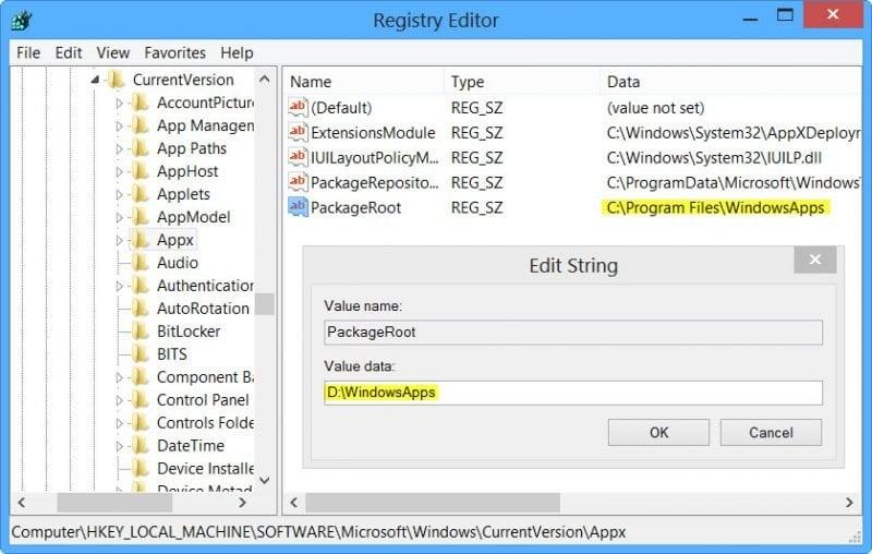 Cambiar la ubicación de instalación predeterminada de Windows 8 Store Apps 2