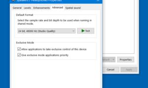 Otra aplicación está controlando su sonido en este momento error en Windows 10