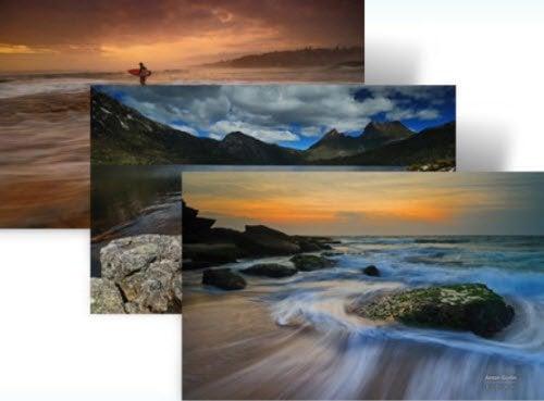 Dos paisajes panorámicos australianos y temas de orillas para Windows 7