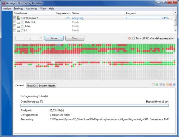 Desfragmentación de Disco Auslogics: Desfragmentador de disco gratuito para Windows