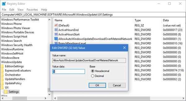 Permitir que las actualizaciones de Windows se descarguen automáticamente a través de Metered Connections 2