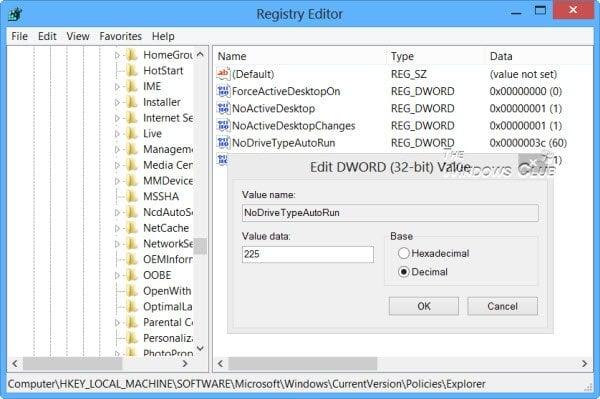 Activar, desactivar la reproducción automática en Windows 10/8
