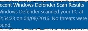 Función de exploración periódica limitada en Windows Defender en Windows 10