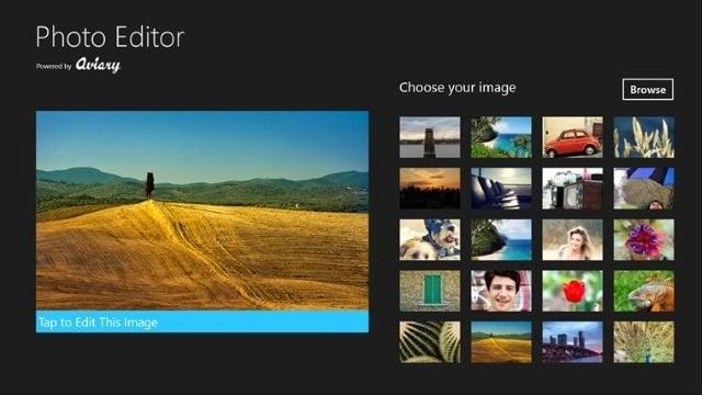 La aplicación Aviary Photo Editor para Windows 10 es ideal para la edición básica de fotos.