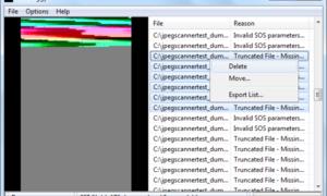 Bad Peggy: Escanea imágenes JPG dañadas y rotas en busca de defectos.