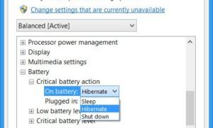 Acción de cambiar la batería crítica y de bajo nivel en Windows 10/8/7