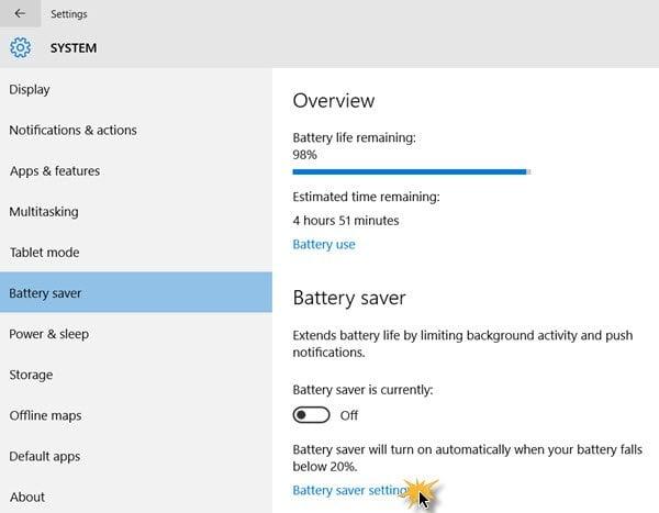 Cómo averiguar el uso de la batería de cada aplicación en Windows 10