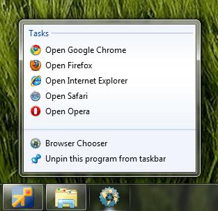 El Seleccionador de Navegadores le permite elegir en qué navegador abrir un enlace.