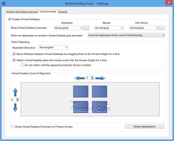 BetterDesktopTools: Funciones similares a las de Expose & Spaces para Windows